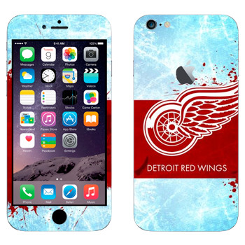Виниловая наклейка «Detroit red wings» на телефон Apple iPhone 6 Plus/6S Plus
