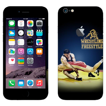 Виниловая наклейка «Wrestling freestyle» на телефон Apple iPhone 6 Plus/6S Plus