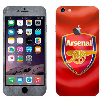 Виниловая наклейка «Арсенал эмблема» на телефон Apple iPhone 6 Plus/6S Plus