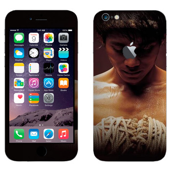 Виниловая наклейка «Боец Муай Тай» на телефон Apple iPhone 6 Plus/6S Plus