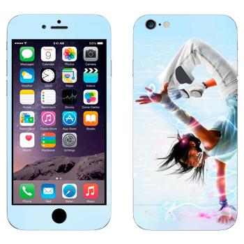 Виниловая наклейка «Брейк данс» на телефон Apple iPhone 6 Plus/6S Plus