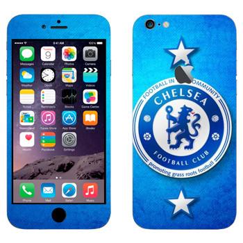 Виниловая наклейка «Челси логотип на голубом фоне» на телефон Apple iPhone 6 Plus/6S Plus