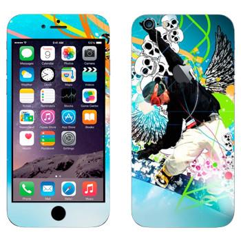 Виниловая наклейка «Экстрим сноуборд» на телефон Apple iPhone 6 Plus/6S Plus