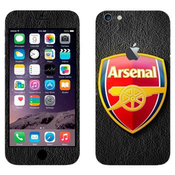 Виниловая наклейка «ФК Арсенал эмблема» на телефон Apple iPhone 6 Plus/6S Plus