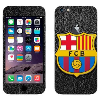 Виниловая наклейка «ФК Барселона эмблема» на телефон Apple iPhone 6 Plus/6S Plus