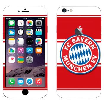 Виниловая наклейка «ФК Бавария эмблема на красном фоне» на телефон Apple iPhone 6 Plus/6S Plus