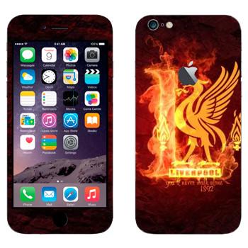 Виниловая наклейка «ФК Ливерпуль» на телефон Apple iPhone 6 Plus/6S Plus