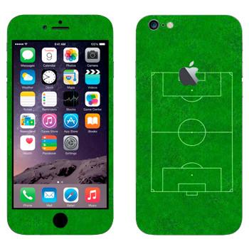 Виниловая наклейка «Футбольное поле» на телефон Apple iPhone 6 Plus/6S Plus