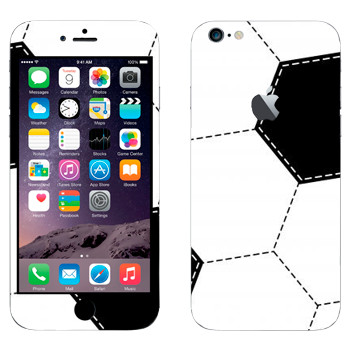 Виниловая наклейка «Футбольный мяч шаблон» на телефон Apple iPhone 6 Plus/6S Plus