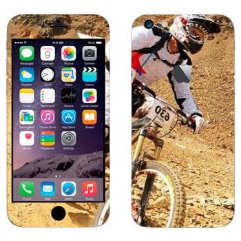 Виниловая наклейка «Горный велосипед» на телефон Apple iPhone 6 Plus/6S Plus