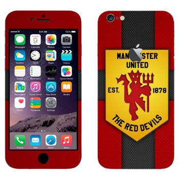 Виниловая наклейка «Красные дьяволы - Манчестер Юнайтед» на телефон Apple iPhone 6 Plus/6S Plus