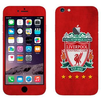 Виниловая наклейка «Ливерпуль эмблема на красном фоне» на телефон Apple iPhone 6 Plus/6S Plus