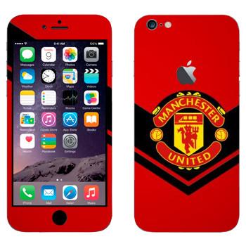 Виниловая наклейка «Манчестер Юнайтед» на телефон Apple iPhone 6 Plus/6S Plus