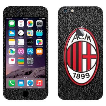 Виниловая наклейка «Милан эмблема» на телефон Apple iPhone 6 Plus/6S Plus