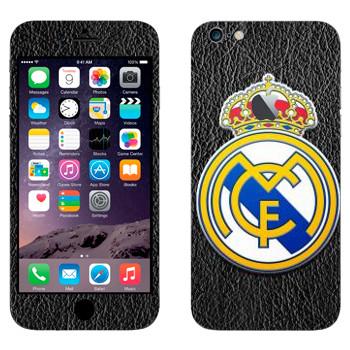 Виниловая наклейка «Реал Мадрид эмблема» на телефон Apple iPhone 6 Plus/6S Plus