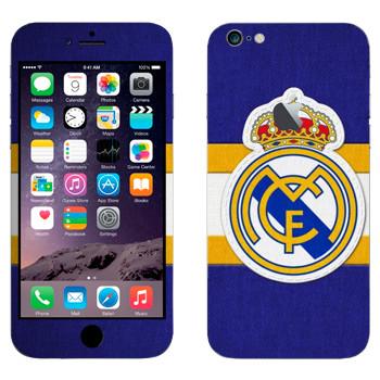 Виниловая наклейка «Реал Мадрид» на телефон Apple iPhone 6 Plus/6S Plus