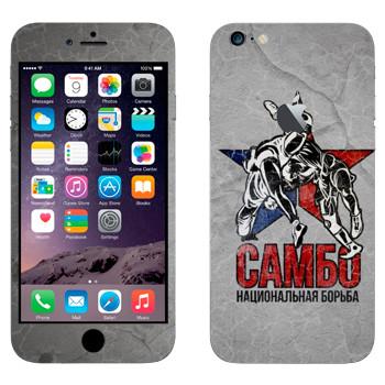 Виниловая наклейка «Самбо» на телефон Apple iPhone 6 Plus/6S Plus