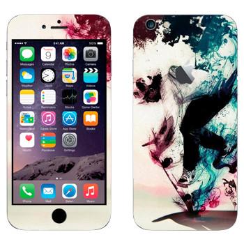 Виниловая наклейка «Скейбордист в красочном дыму» на телефон Apple iPhone 6 Plus/6S Plus