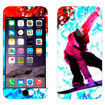 Виниловая наклейка «Сноубординг» на телефон Apple iPhone 6 Plus/6S Plus
