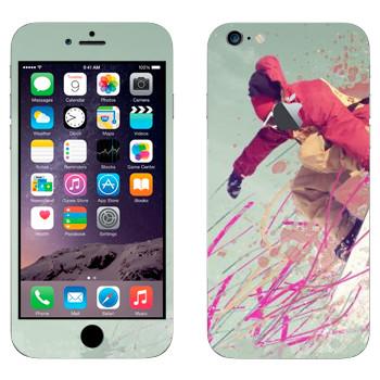 Виниловая наклейка «Сноубордист» на телефон Apple iPhone 6 Plus/6S Plus