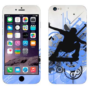 Виниловая наклейка «Тень скейтбордиста» на телефон Apple iPhone 6 Plus/6S Plus