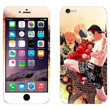 Виниловая наклейка «Удар коленом - Муай Тай» на телефон Apple iPhone 6 Plus/6S Plus