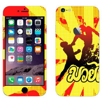 Виниловая наклейка «Удар в прыжке - Муай Тай» на телефон Apple iPhone 6 Plus/6S Plus