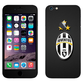 Виниловая наклейка «Ювентус эмблема на черном фоне» на телефон Apple iPhone 6 Plus/6S Plus