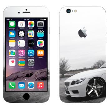 Виниловая наклейка «BMW белая» на телефон Apple iPhone 6 Plus/6S Plus