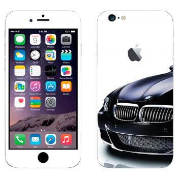 Виниловая наклейка «BMW черная» на телефон Apple iPhone 6 Plus/6S Plus