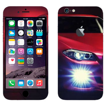 Виниловая наклейка «BMW красная» на телефон Apple iPhone 6 Plus/6S Plus