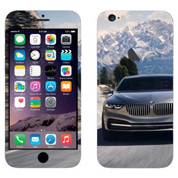 Виниловая наклейка «BMW на горной дороге» на телефон Apple iPhone 6 Plus/6S Plus