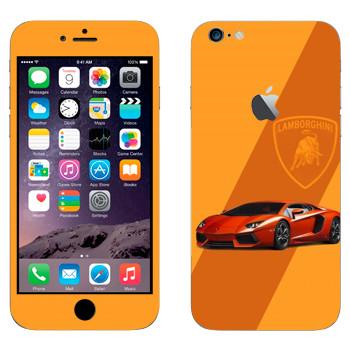 Виниловая наклейка «Lamborghini Aventador LP 700-4» на телефон Apple iPhone 6 Plus/6S Plus