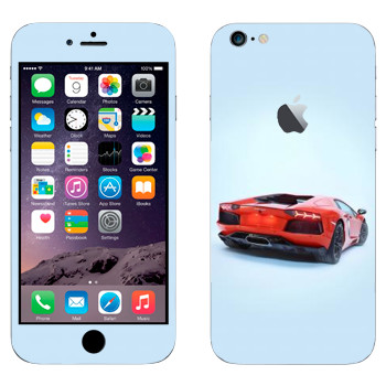 Виниловая наклейка «Lamborghini Aventador» на телефон Apple iPhone 6 Plus/6S Plus
