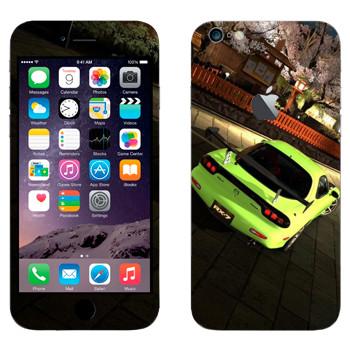 Виниловая наклейка «Mazda RX-7 кислотно-зеленого цвета» на телефон Apple iPhone 6 Plus/6S Plus