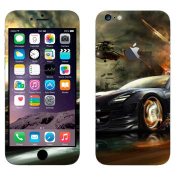 Виниловая наклейка «Nissan GTR в движении» на телефон Apple iPhone 6 Plus/6S Plus