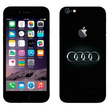 Виниловая наклейка «Ауди логотип» на телефон Apple iPhone 6 Plus/6S Plus