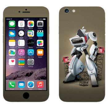 Виниловая наклейка «Белый шагающий робот» на телефон Apple iPhone 6 Plus/6S Plus
