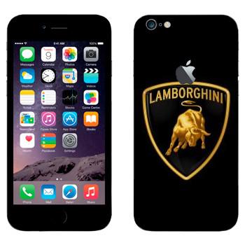 Виниловая наклейка «Эмблема Lamborghini» на телефон Apple iPhone 6 Plus/6S Plus