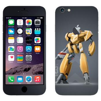 Виниловая наклейка «Желтый робот» на телефон Apple iPhone 6 Plus/6S Plus
