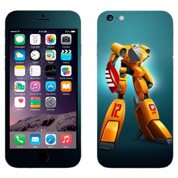 Виниловая наклейка «Желтый шагающий робот» на телефон Apple iPhone 6 Plus/6S Plus
