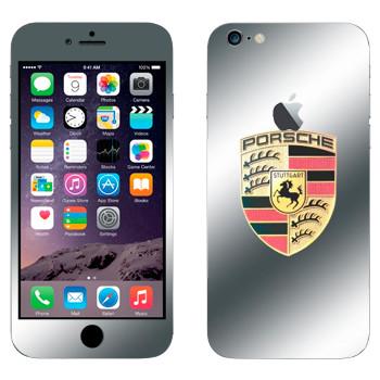 Виниловая наклейка «Логотип Порше» на телефон Apple iPhone 6 Plus/6S Plus