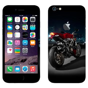 Виниловая наклейка «Мотоцикл Ducati» на телефон Apple iPhone 6 Plus/6S Plus