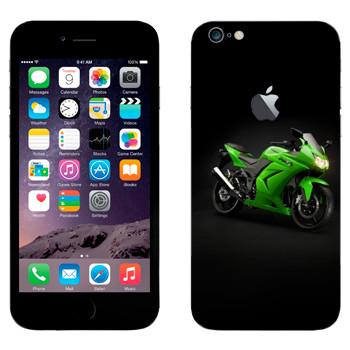 Виниловая наклейка «Мотоцикл Kawasaki Ninja 250R» на телефон Apple iPhone 6 Plus/6S Plus
