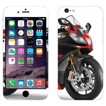 Виниловая наклейка «Мотоцикл спортивный красный» на телефон Apple iPhone 6 Plus/6S Plus