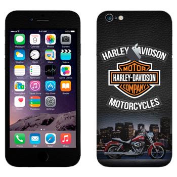 Виниловая наклейка «Мотоциклы Харлей-Дэвидсон» на телефон Apple iPhone 6 Plus/6S Plus
