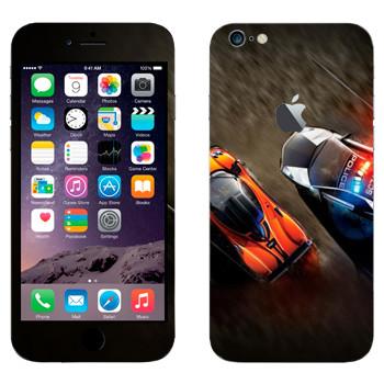 Виниловая наклейка «Погоня полиция спорткары» на телефон Apple iPhone 6 Plus/6S Plus
