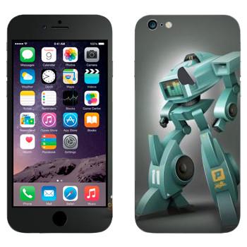 Виниловая наклейка «Шагающий робот с эквалайзером» на телефон Apple iPhone 6 Plus/6S Plus