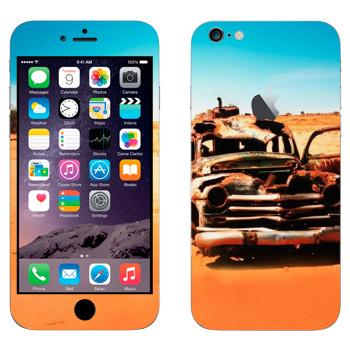 Виниловая наклейка «Соржавевшая машина в пустыне» на телефон Apple iPhone 6 Plus/6S Plus
