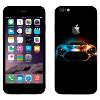 Виниловая наклейка «Спорткар лед и пламя» на телефон Apple iPhone 6 Plus/6S Plus